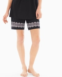 Embraceable Cool Nights Bermuda Pajama Shorts Delft Black Border