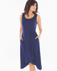 Short Sleeveless Dress Navy