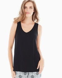 Embraceable Cool Nights Pajama Tank Black