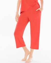 Embraceable Cool Nights Crop Pajama Pants Guava