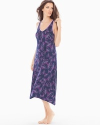 Embraceable Cool Nights Tea Length Nightgown Bali Butterfly Navy
