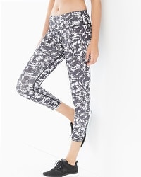 MSP by Miraclesuit Reversible Printed Crop Leggings White Combo