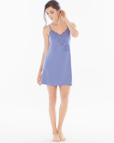 Floral Lace Sleep Chemise Blue Chill
