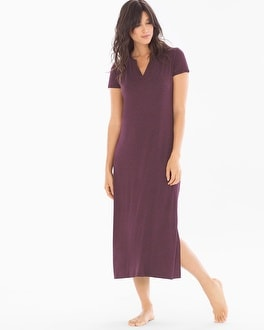 Cool Nights Long Sleepshirt Heather Marsala