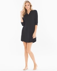 Cool Nights Oversized Sleepshirt Black