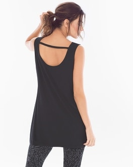 Cowlneck Sleeveless Tunic Black