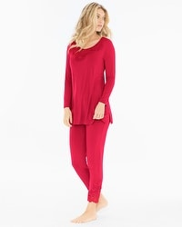 Oh My Gorgeous Tunic Pajama Set Ruby
