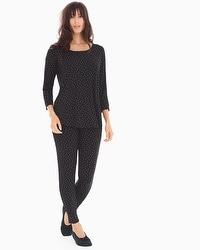 Cool Nights Relaxed Fit Pajama Set Festivity Black