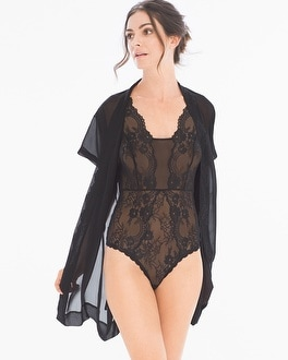 Flirtation Plunging Bodysuit Black