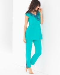 Oh My Gorgeous Tunic Pajama Set Viridian Green
