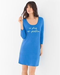Cool Nights Relaxed Sleepshirt No Plans No Problem Capri