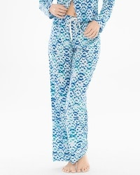 Crepe de Chine Pajama Pants Reflection Ivory
