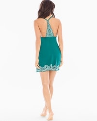 Delicate Floral Lace Cool Nights Sleep Chemise Green Ivy
