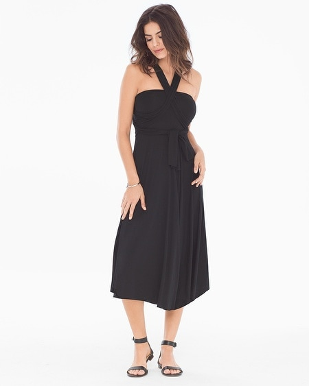 8 Way Convertible Cover Up Dress Black