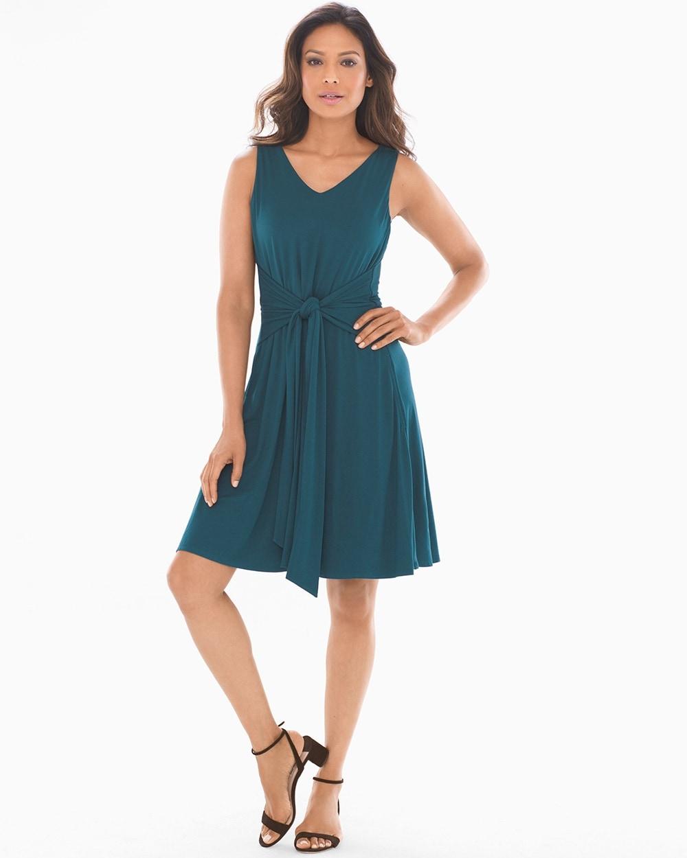 81770c53ccf76 Soft Jersey Sleeveless Knot Front Dress Dark Harbour - Soma