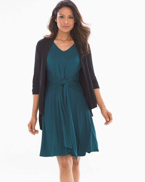 f79b30d363aca Return to thumbnail image selection Soft Jersey Sleeveless Knot Front Dress  Dark Harbour