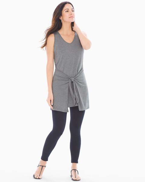 ad7223b6a058c Return to thumbnail image selection Soft Jersey Knot Front Sleeveless Tunic  Heather Graphite