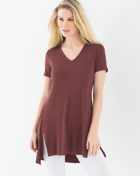 054ccd8cb5f303 Style Essentials Soft Jersey Short Sleeve Tunic Tee Ginger Root - Soma
