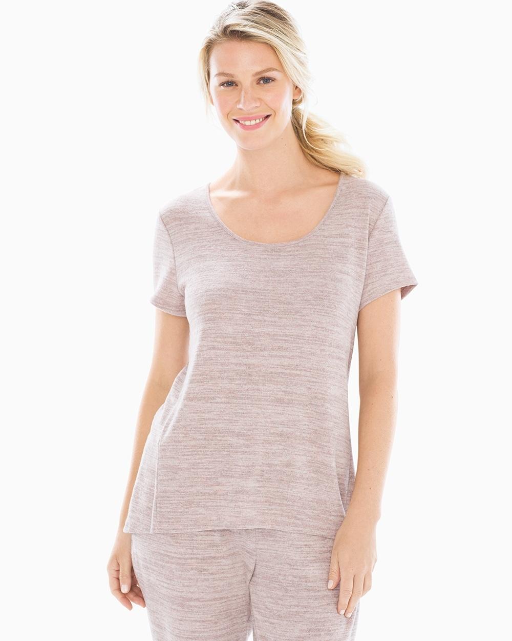 f0e7eb38b63 Short Sleeve Pajama Tee Heather Vintage Pink - Soma