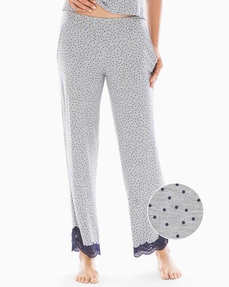 d37c4d3c737e0 Cool Nights Lace Detail Ankle Pajama Pants Caravan Dot Heather Opal