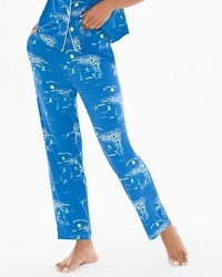 Cool Nights Ankle Pajama Pants French Riviera