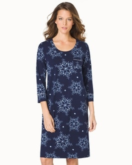 Embraceable 3/4 Sleeve Sleepshirt Frost Navy