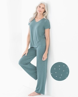 Short Sleeve Pajama Set Festivity Atlantic by Cool Nights