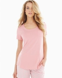 Embraceable Cool Nights Short Sleeve Pajama Tee Blush
