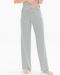 Cool Nights Pajama Pants Infinite Stripe Ivory
