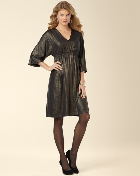 Dahlia Dress Black/Gold