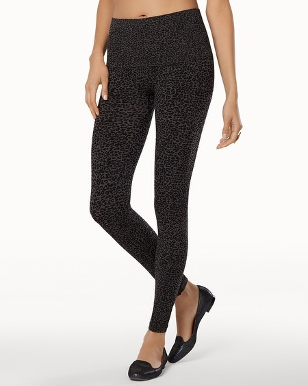Slimming Legging Luxe Leopard Black