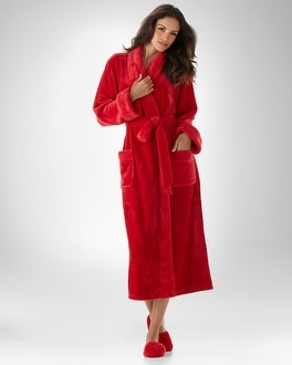 Embraceable Ravishing Red Plush Robe