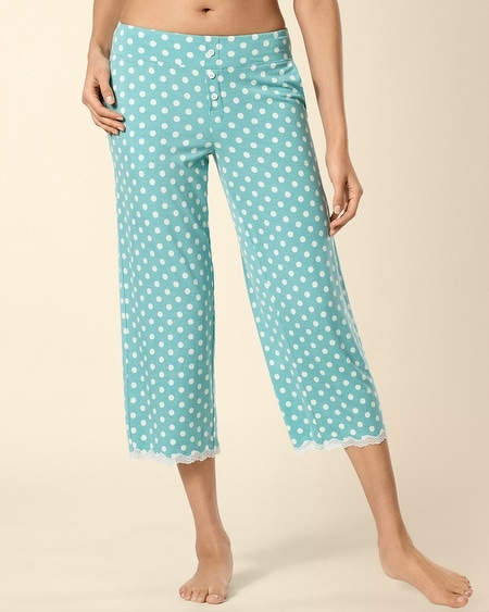 Big Dot Teal Lace Trim PJ Crop