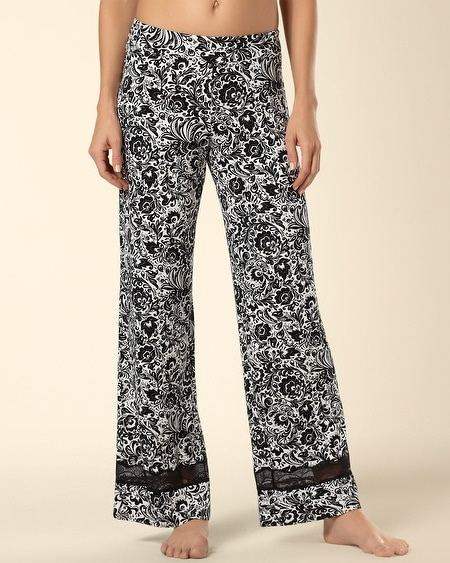 Deco Lace Sleep Pant Feather Flower