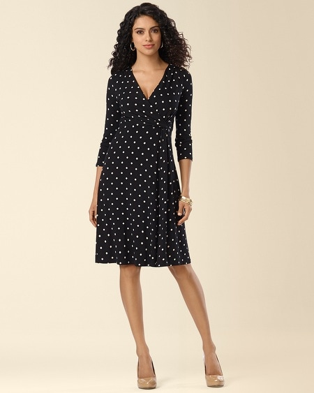 Side-Twist Dress Windsome Dot Tan