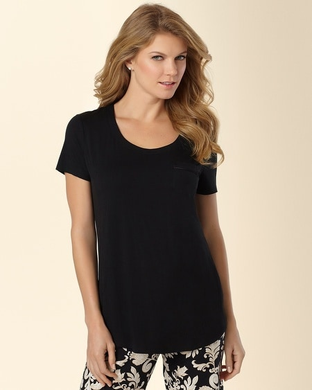 Short Sleeve Pajama Tee Black