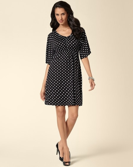 Kimono Sleeve Dress Blurred Dot