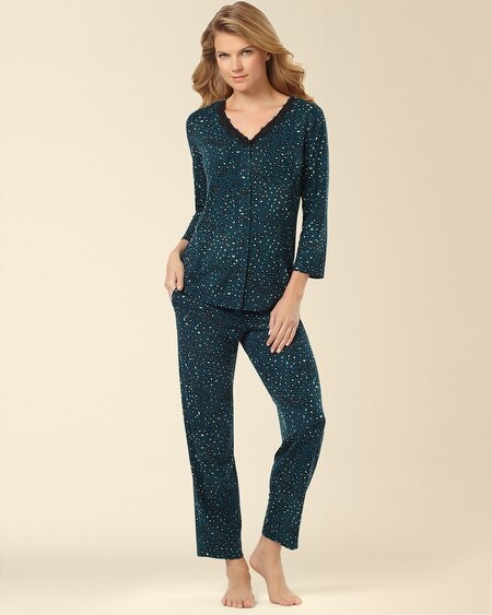Cardigan Pajama Set Posh Deep Teal