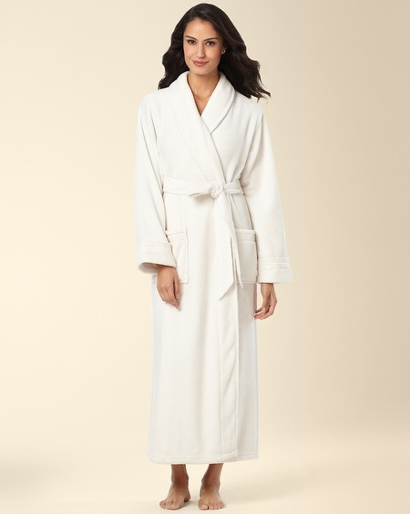 Plush Long Robe Ivory