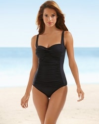 La Blanca Sweetheart Swim Tankini Top Black