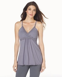 Belabumbum Before and After Nursing Cami Gray/Lilac Stripe