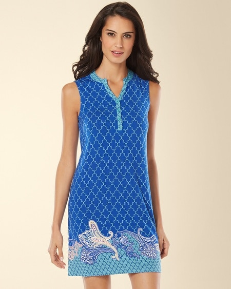 Sleeveless Sleepshirt Surfside Atlantis Border
