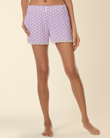 Lace Sleep Short Big Dot Faded Orchid