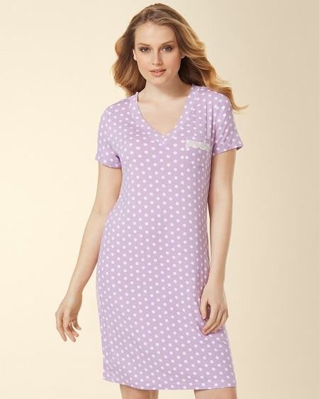 V-Neck Sleepshirt Big Dot Faded Orchid