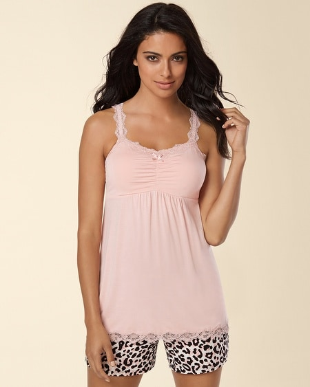 Lace Sleep Cami Boudoir Pink