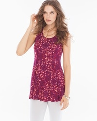 Live.Lounge.Wear. Soft Jersey Princess Seam Tunic Tank Tango Plum