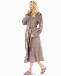 Embraceable Luxe Marble Long Robe Mochaccino With Java