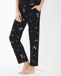 Embraceable Cool Nights Ankle Pajama Pants Botanical Bouquet Mini