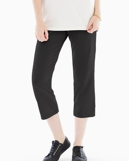 Premium Cotton Crop Pants Black