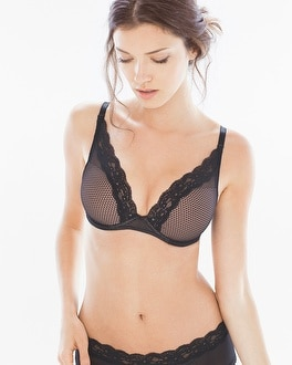 Passionata Brooklyn Plunge Underwire Bra Black